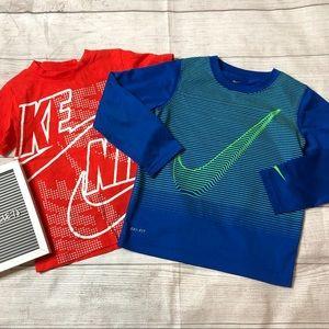 Nike Dri- Fit Boys Size 6 / 7 T-Shirt Bundle of 2